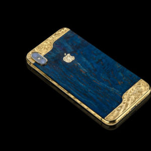 BLUE WOODEN ORNATE ARISTOCRATE