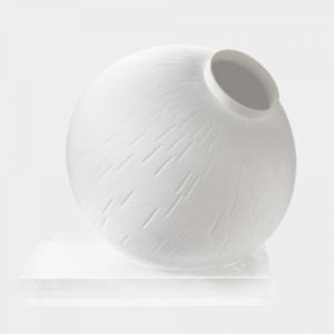 """Sphere Vase Infinity Base Optical Glass"""