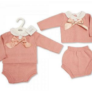 2pcs set knitted baby girls