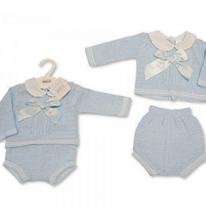 2pcs set knitted baby boys