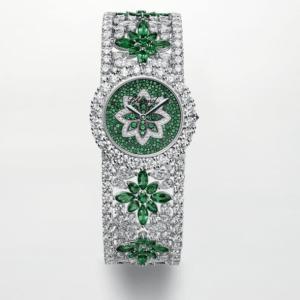 Emerald and diamond women's watch 《 CHOPARD 》