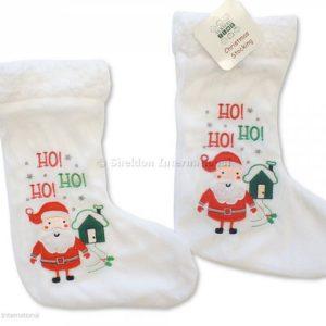 Baby Christmas Stocking - Santa