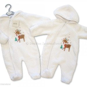 Baby Christmas All in One with Hood - Reindeer