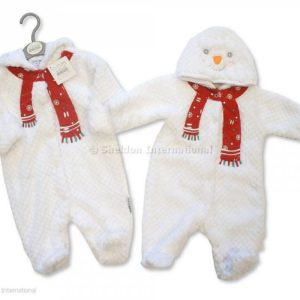Baby Christmas All in One with Hood - Snowman