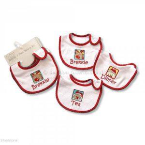 Baby Christmas Bibs -Brekkie-Dinner-Tea