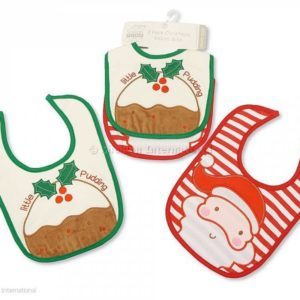 Baby Christmas Cotton Bibs 2 Pack - Little Pudding