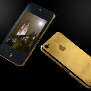 24ct solid gold iphone 4G