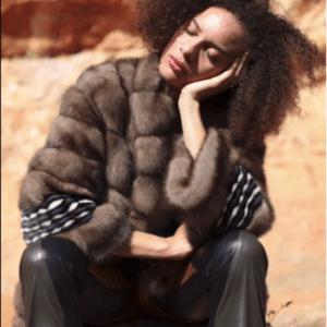Barguzinsky sable mink inlaid