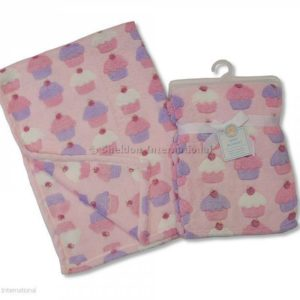 Baby Cot Blanket - Cup Cakes