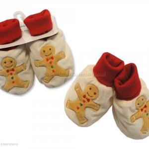 Baby Christmas Booties - Gingerbread Man