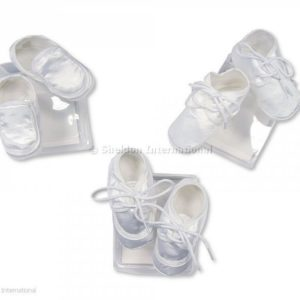 Baby Boys Satin Booties/Shoes - 3 Designs